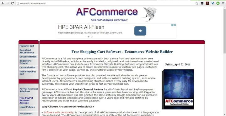 afcommerce screenshot