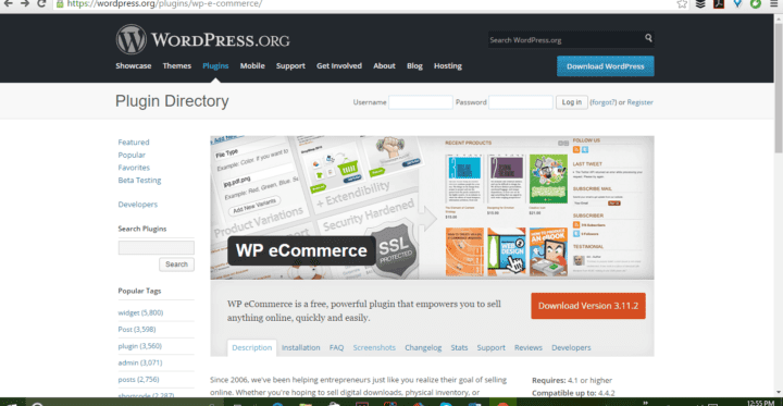 wp ecommerce screenshot