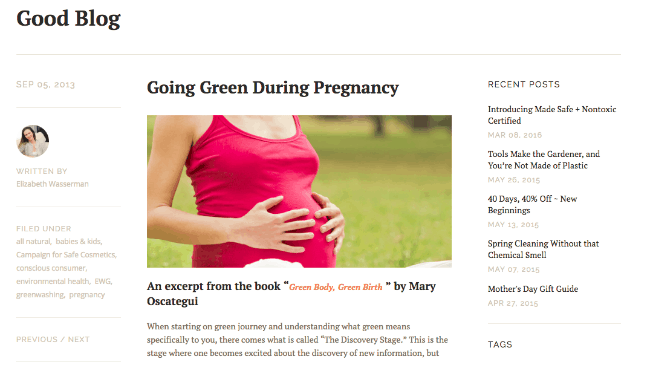 Going green during pregnancy