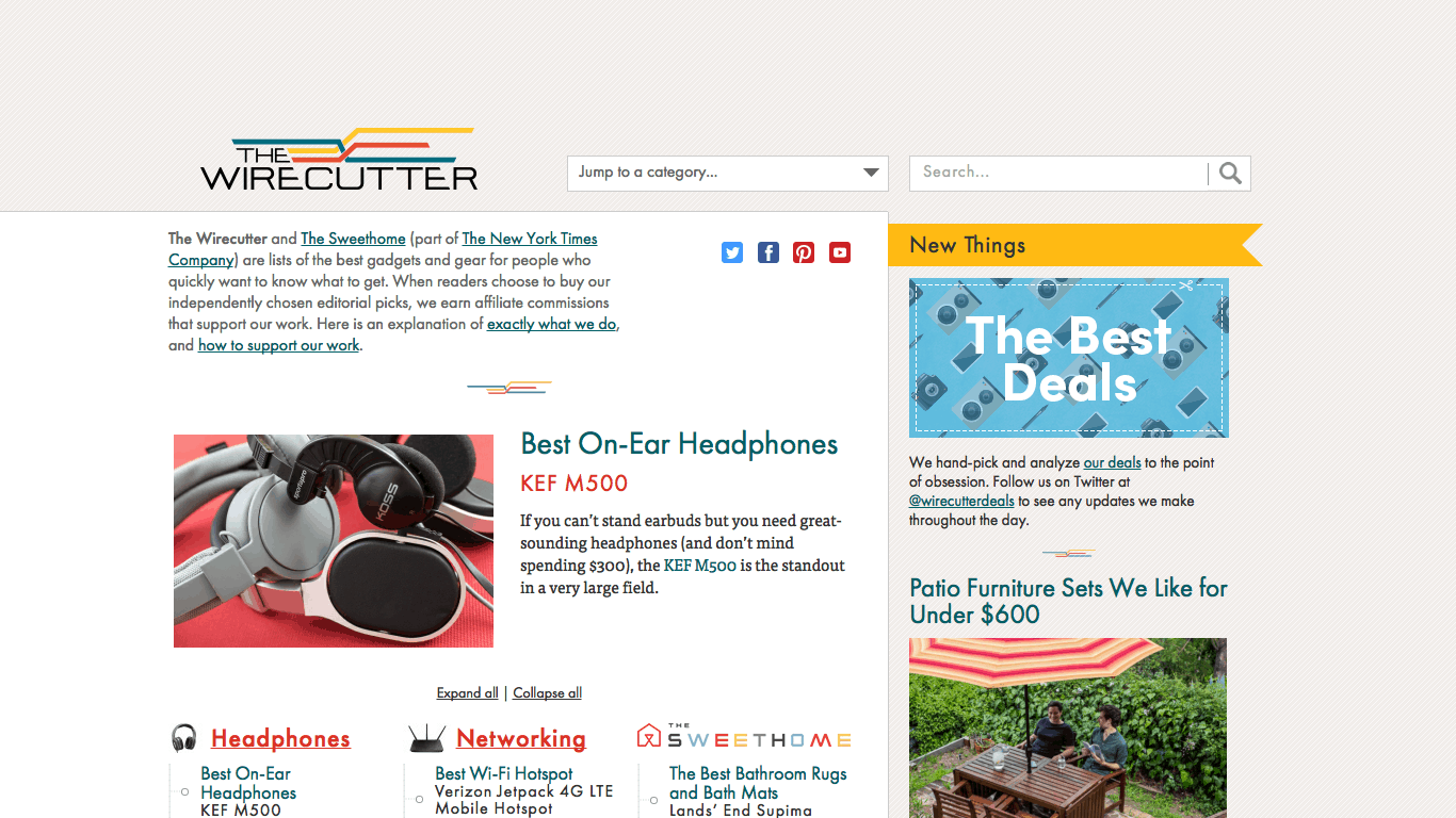 The Wirecutter's Blog-Like Homepage